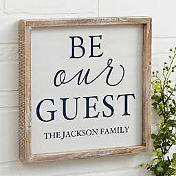 Be Our Guest Barnwood Frame Wall Art