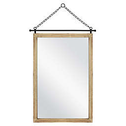 18-Inch x 12-Inch Rectangular Hanging Wall Mirror in Natural