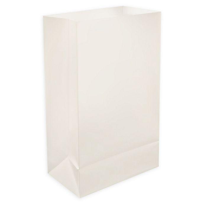 Alternate image 1 for Lumabase 24-Count Plastic Luminaria Bags in White