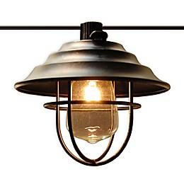 10-Light Metal Cafe Electric String Lights in Bronze