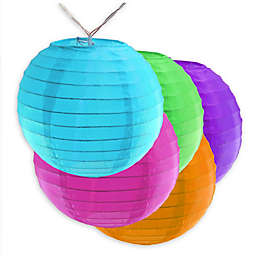 """Battery Operated String Light with 6"""" Nylon Lanterns (10 Lights)"""