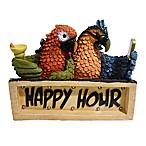 Happy Hour Parrots LED Solar Powered Plaque
