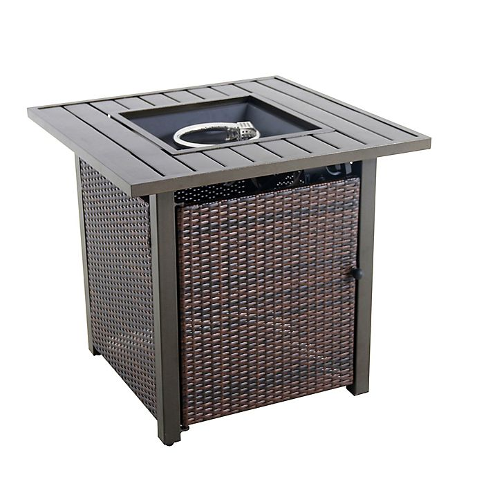 Alternate image 1 for 26-Inch Wicker Fire Pit