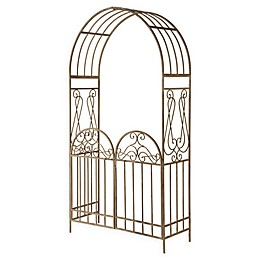 National Tree Company® Garden Accents Gated Archway in Brown