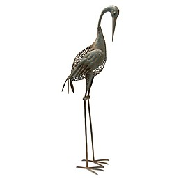 National Tree Company® Garden Accents Metal Crane Statue in Green