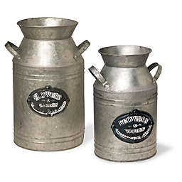 National Tree Company® Garden Accents Antique Milk Can in Silver
