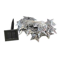 Silver Star Solar Powered String Lights (20 Lights)