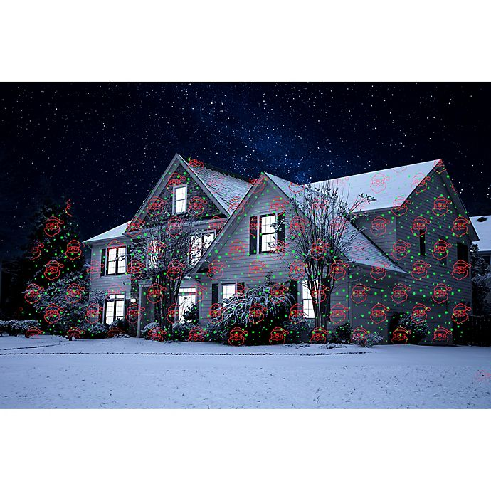 Alternate image 1 for Night Stars Celebration 6-Pattern Holiday Laser Light