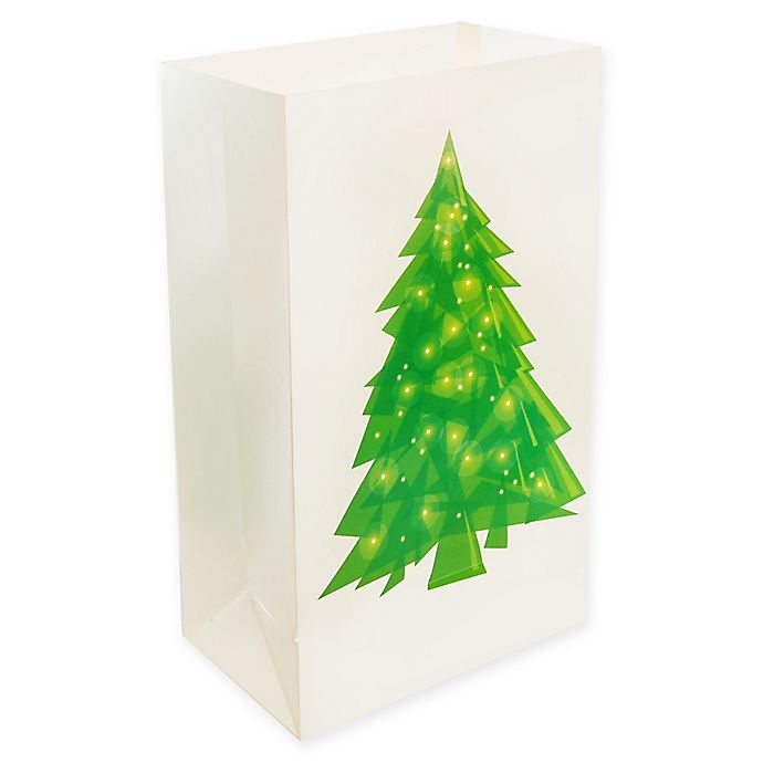 Alternate image 1 for Lumabase 24-Count Christmas Tree Luminaria Bags