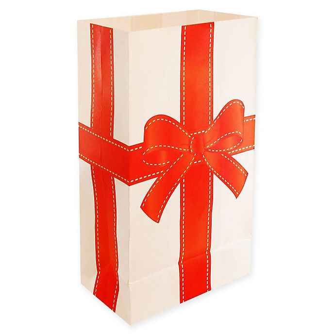 Alternate image 1 for Lumabase 24-Count Christmas Present Luminaria Bags