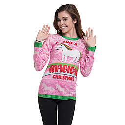 Faux Real Magical Christmas Tee in Pink