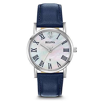 Bulova Women's 32MM Blue Classic 96M146 Slim Profile Watch