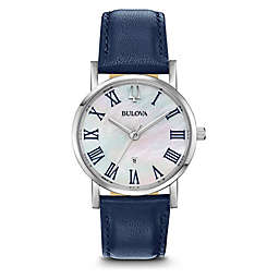 Bulova Women's 32MM Blue Classic 96M146 Slim Profile Watch