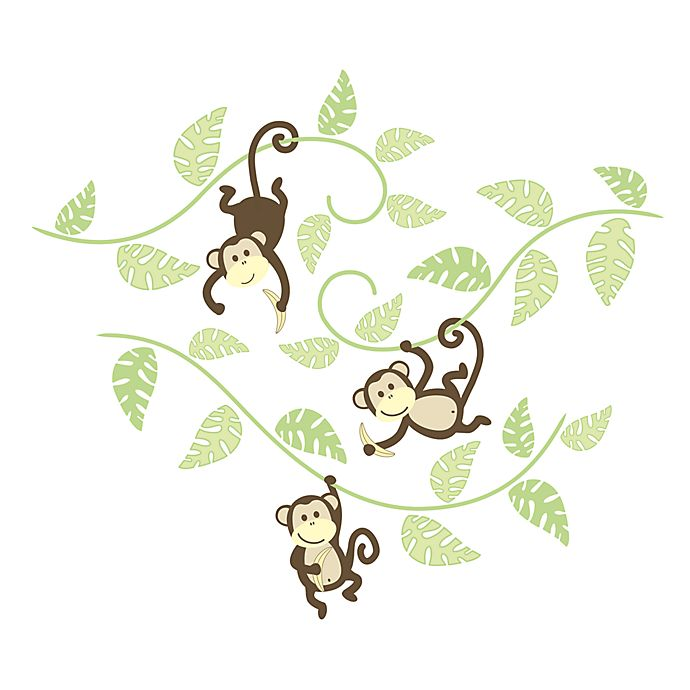 Alternate image 1 for WallPops!® Monkey in g Around Wall Art Kit