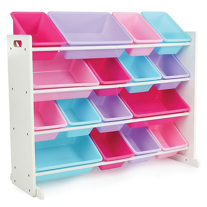 Alternate image 1 for Tot Tutors Super-Sized Toy Organizer in White/Pink/Purple