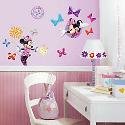 """Roomates Minnie Mouse """"Bow-Tique"""" Peel & Stick Wall Decals"""