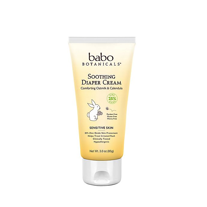 Alternate image 1 for Babo Botanicals® 3 oz. Soothing Diaper Cream in Oatmilk and Calendula