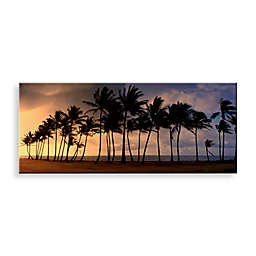 Christopher Knight Collection Palm Paradise Canvas Print 58-Inch x 18-Inch Wall Art