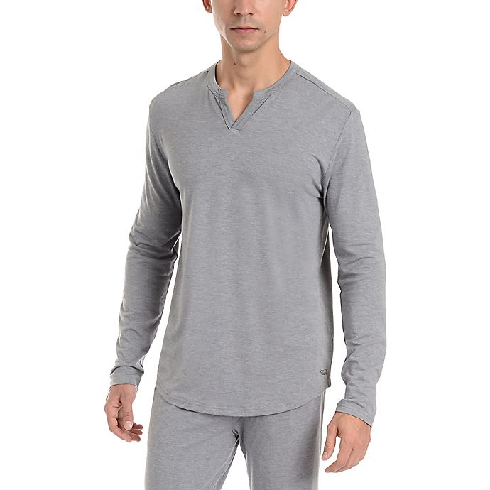 Alternate image 1 for Copper Fit® Essential Small/Medium Men's Sleep Shirt in Grey