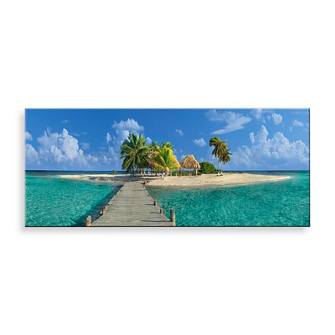 Alternate image 1 for Welcome to Paradise Canvas Print 58-Inch x 18-Inch Wall Art