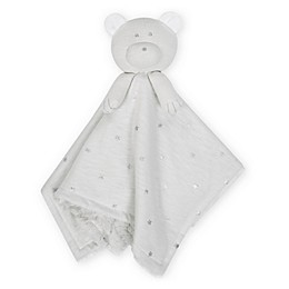 Just Born® Sparkle Bear Security Blanket in Grey