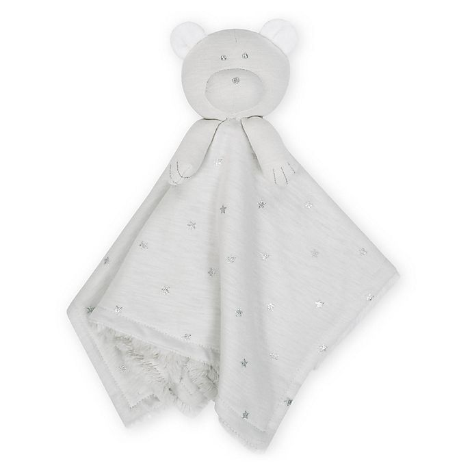 Alternate image 1 for Just Born® Sparkle Bear Security Blanket in Grey