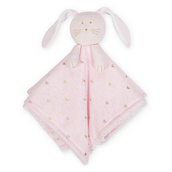 Alternate image 1 for Just Born® Sparkle Bunny Security Blanket in Pink