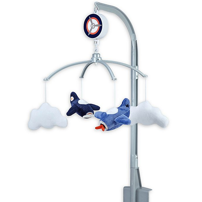 Alternate image 1 for carter's® Take Flight Airplane Nursery Crib Musical Mobile