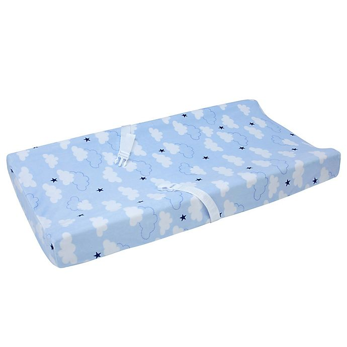 Alternate image 1 for carter's® Take Flight Changing Pad Cover in Blue