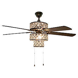 River of Goods Punch Metal 52-Inch Ceiling Fan in Silver