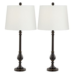 Pacific Coast® Lighting Nikola CFL Bulb Table Lamp in Bronze (Set of 2)