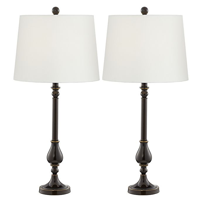 Pacific Coast Lighting Nikola Cfl Bulb Table Lamp In Bronze Set Of 2
