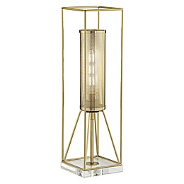 Kathy Ireland® Welcome Home CFL Bulb Table Lamp in Gold