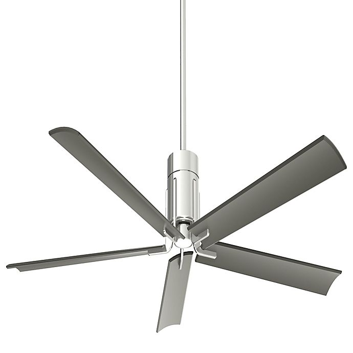 Alternate image 1 for Minka-Aire® Shade 60-Inch Single-Light Ceiling Fan in Polished Nickel with Remote Control