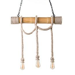 Southern Enterprises Montez DIY Ceiling-Mount Rope Pendant Light in Natural