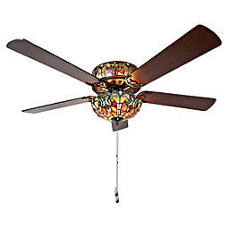 River of Goods 52-Inch 6-Light Tiffany-Inspired Ceiling Fan