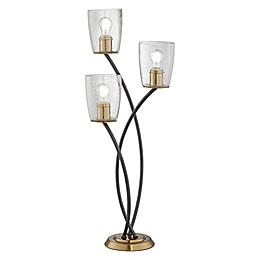 Kathy Ireland® Kig Uplight 3-Light Table Lamp in Gunmetal