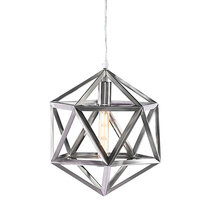 Southern Enterprises Geometric Cage Pendant In Brushed