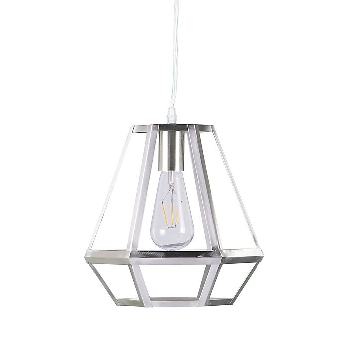 Southern Enterprises Draco Cage Pendant In Brushed Nickel