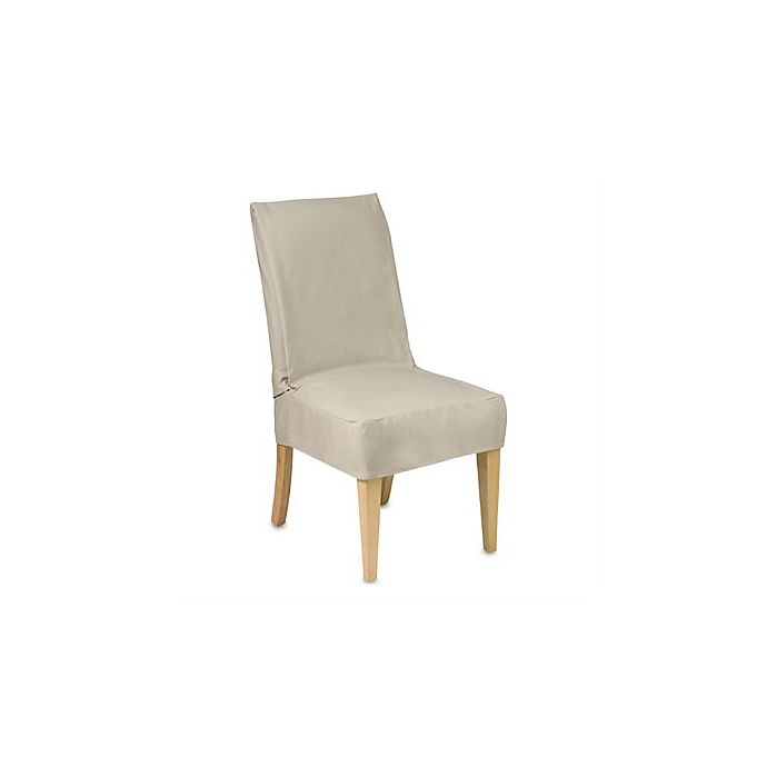 Cotton Duck Shorty Dining Chair Slipcover | Bed Bath & Beyond