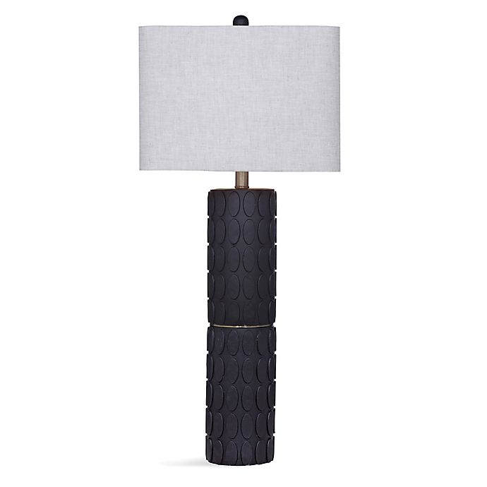 Alternate image 1 for Mira Table Lamp in Blue With Cream Shade