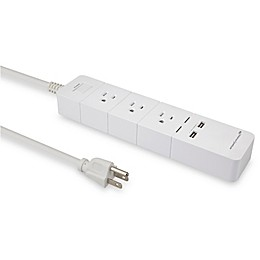 Amped Wireless Smart Power Strip in White