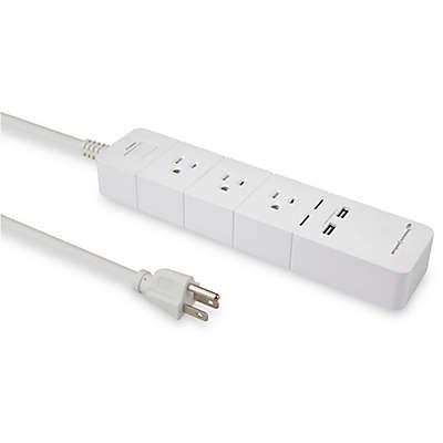 Amped Wireless Smart Power Strip in White