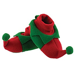 Sleepy Time Elf Slipper in Red/Green