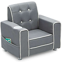 Delta Children Chelsea Kids Upholstered Chair in Soft Grey