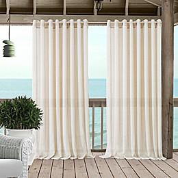 Carmen Grommet Sheer Indoor/Outdoor Window Curtain Panel