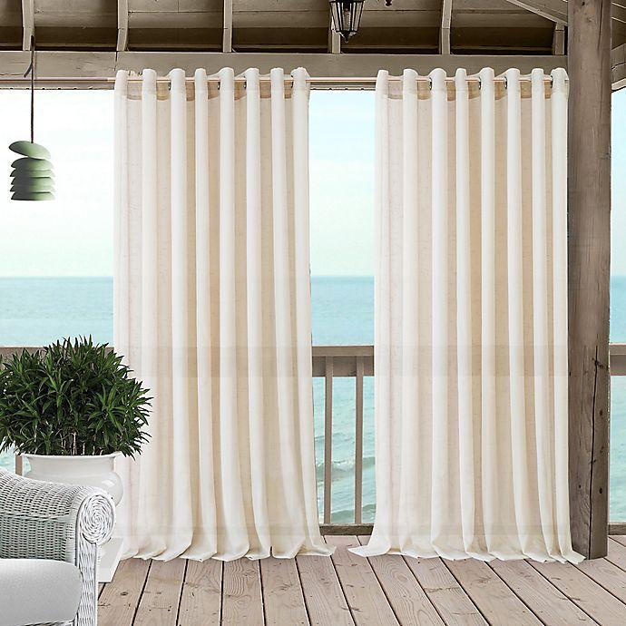 Alternate image 1 for Carmen 108-Inch Grommet Sheer Indoor/Outdoor Window Curtain Panel in Ivory