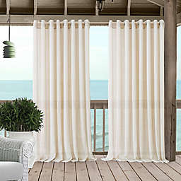 Carmen Grommet Sheer Indoor/Outdoor Window Curtain Panel (Single)