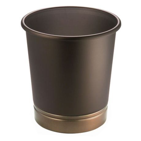 Buy interdesign york metal wastebasket in oil rubbed bronze from bed bath beyond for Oil rubbed bronze bathroom wastebasket