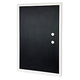 Wood-Framed Magnetic Chalkboard with Magnets